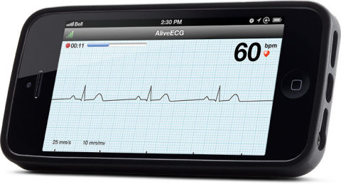 AliveCor iPhone5 (Photo: Business Wire)
