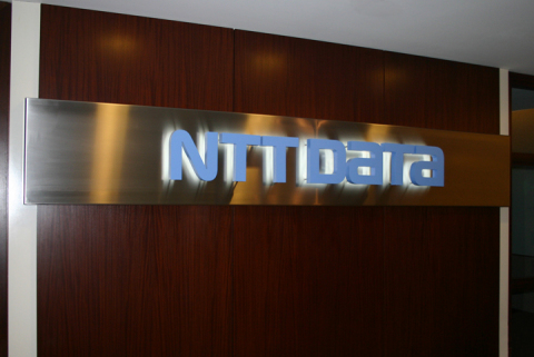 The lobby at NTT DATA's new headquarters in Plano, TX. (Photo: Business Wire)