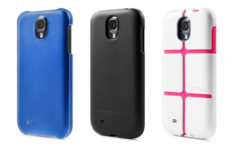 New cases for Samsung GALAXY S4 by Incase. Pictured (L to R): Snap Case, Slider Case and SYSTM Chisel. (Photo: Business Wire)