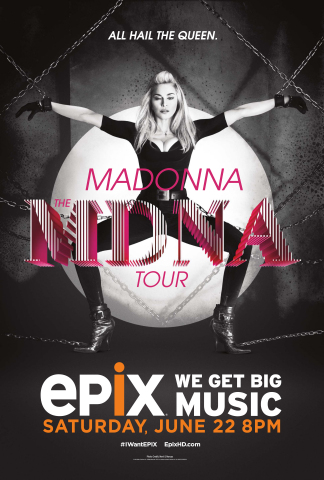 Madonna MDNA Tour premieres on EPIX Saturday, June 22 at 8PM (Graphic: Business Wire)