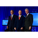 Bob McCann, CEO UBS Group Americas with President George W. Bush and President Bill Clinton (Photo: Business Wire)