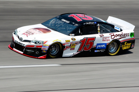 Clint Bowyer's No. 15 Toyota is sponsored by KFC Original Recipe Boneless for the May 11 Southern 50 ...