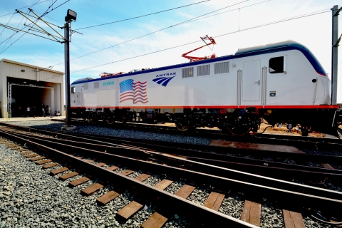 The new Amtrak locomotives are being assembled in Siemens' Sacramento, Calif., rail manufacturing plant with parts from nearly 70 suppliers, representing more than 60 cities and 23 states. (Photo: Business Wire)