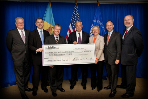 Shown from left: Laurent Lutz, Executive Vice President & General Counsel, Sallie Mae; Joe DePaulo,  ...