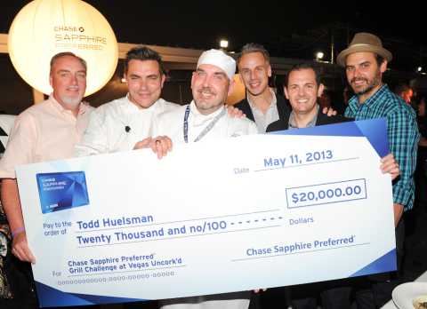 L to R: Career Education Scholarship Fund Director, Terry Frederiksen; Chef Todd English; Le Cordon ...