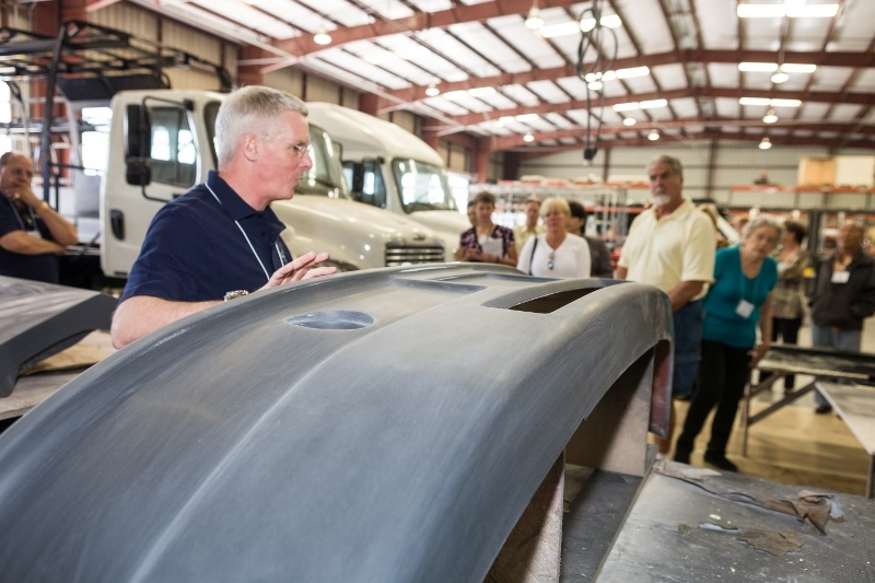 Newport Coachworks guided tours to show the manufacturing process of its high quality buses (Photo: Business Wire)