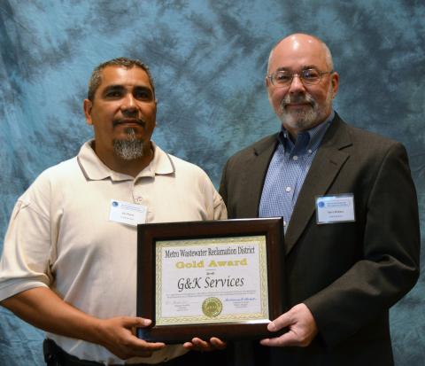Jay Parra, Plant Manager of G&K's Denver facility (left) and Steve Rohacs, General Manager of G&K De ...
