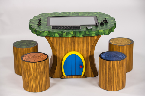 The Treehouse combines Lenovo's Horizon Table PC with childlike creativity for a 21st century playroom. (Photo: Business Wire)
