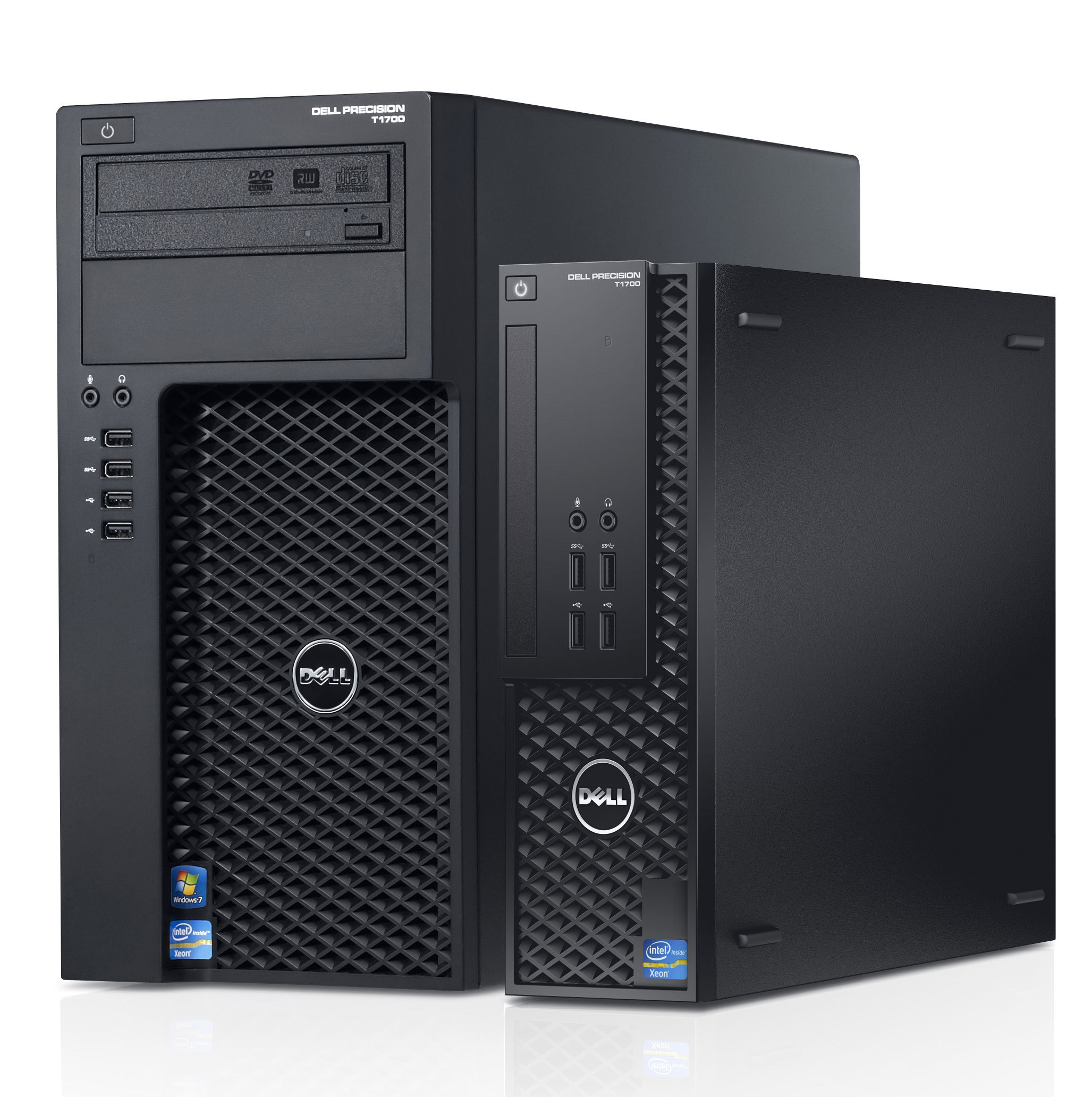 Offering powerful workstation performance at about desktop PC prices, the new Dell Precision T1700 Small Form-Factor and Mini-Tower are the smallest workstations in their class allowing IT to easily deploy an Independent Software Vendor (ISV) certified workstation almost anywhere, regardless of space constraints. (Photo: Business Wire)