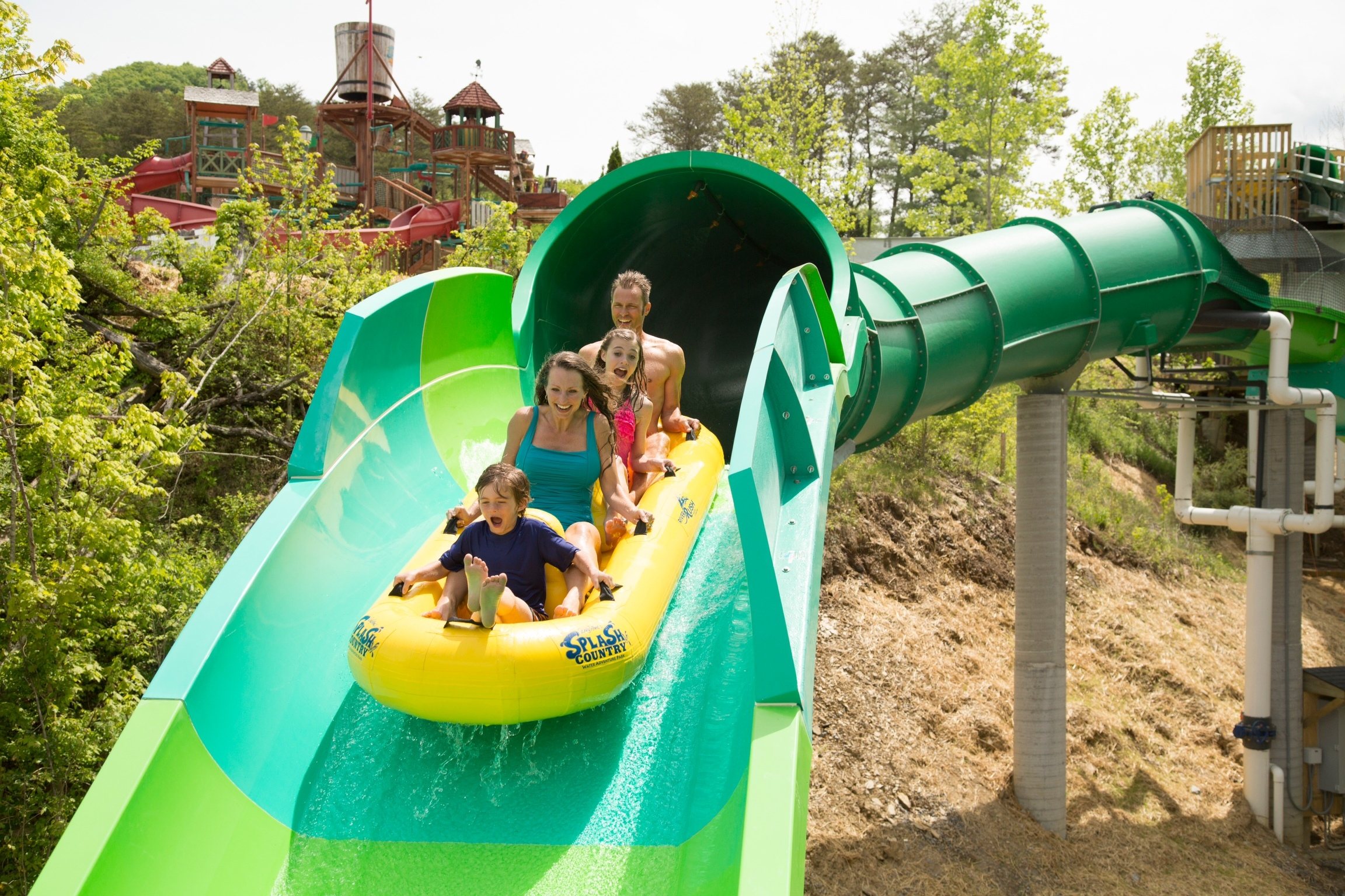 Dollywood S Splash Country Opened Riverrush Tennessee S