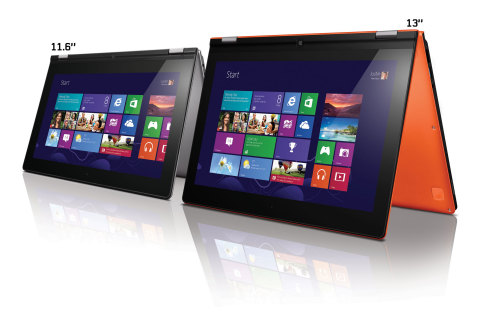 The multi-mode, flip and fold IdeaPad Yoga 11S goes on sale today. (Photo: Business Wire)
