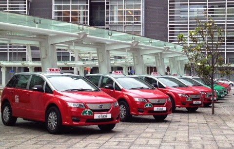 Hongkong first pure electric taxi fleet (Photo: Business Wire)