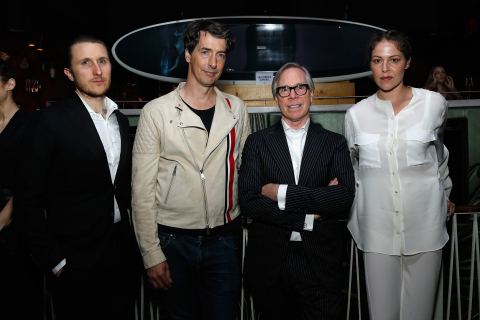 Tommy Hilfiger with Art Production Fund Artists Scott Campbell, Richard Phillips and Lola Montes Sch ...
