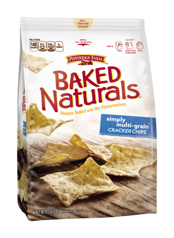 Pepperidge Farm was honored for a second consecutive year with a prestigious DuPont Award for Packaging Innovation, receiving a Silver award for a first-of-its-kind, Seal Tab(R) re-close feature on Pepperidge Farm Baked Naturals(R) Cracker Chips bags.