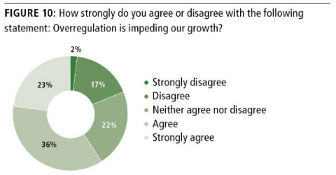 Three out of Five (59%) Healthcare Industry Executives Say Overregulation is Impeding Their Growth (Graphic: Business Wire)