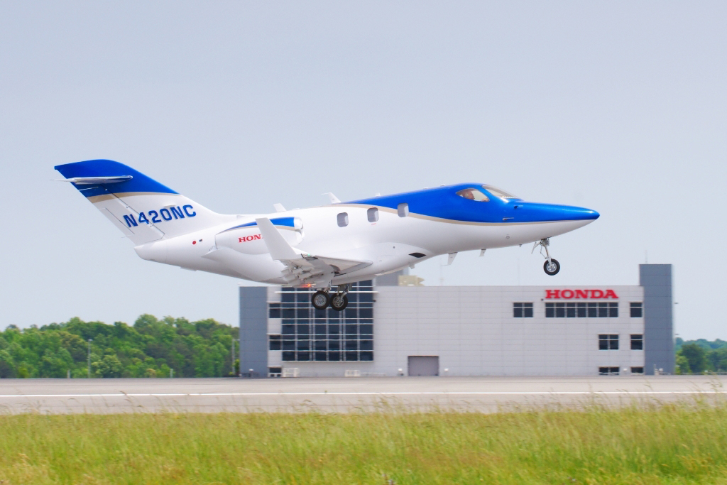 Honda Aircraft Company's fifth FAA-conforming HondaJet achieved its first flight on May 16, 2013. (Photo: Business Wire)