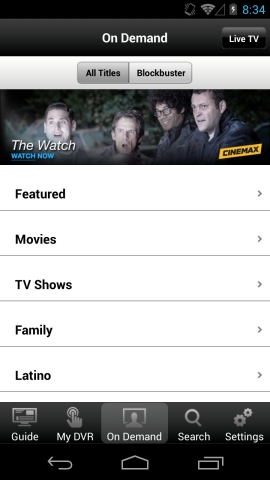 With a new update to the DISH Anywhere app, users can access their Hopper DVR on Android phones (4.0 and higher), including On Demand. (Photo: Business Wire)