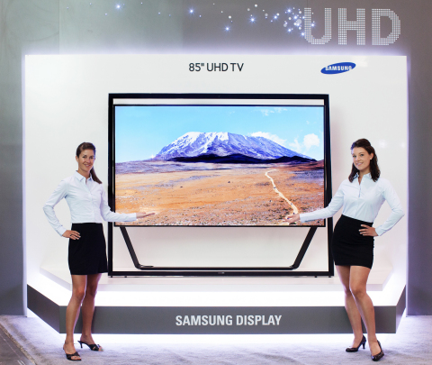 Samsung Display to Showcase an 85-inch UHD TV panel at Display Week 2013 (Photo: Business Wire)