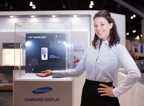 Samsung Display to Showcase the World's First Mass-produced 4.99-inch Full HD AMOLED panel at Display Week 2013 (Photo: Business Wire)