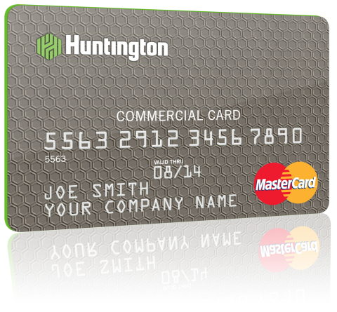 The new Huntington Bank commercial card provides a unique monthly rebate payment. (Photo: Business W ...