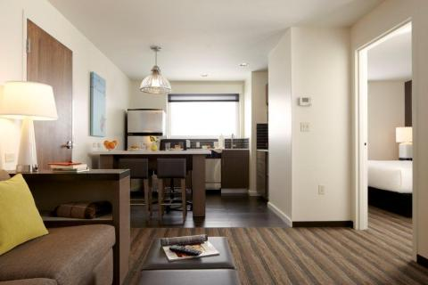 Hyatt House offers real kitchens and real livings rooms plus separate sleeping and living spaces to help keep your real life routines rolling on the road. (Photo: Business Wire)