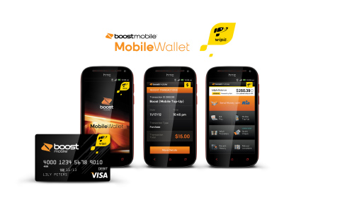 Boost Mobile Wallet powered by Wipit allows Boost Mobile Android-powered smartphones to serve as a cash-based vehicle for accessing cost-effective financial services. (Graphic: Boost Mobile)
