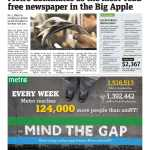 Metro New York reaches an all-time record of 733,311 daily readers