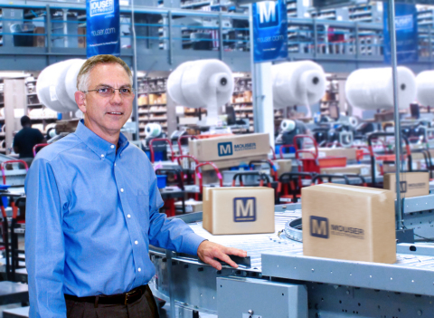 Mouser Electronics' President and CEO Glenn Smith stands in the hub of the company's state-of-the-ar ...