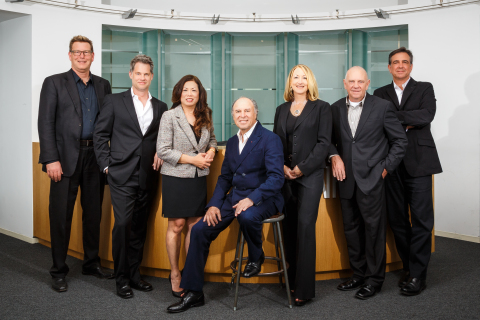 Nadel Architects' New Ownership Team (Left to Right): Patrick Winters, Greg Lyon, Tina Tayag, Herb Nadel (center), Joan Frei, Mark Mikelson, Greg Palaski. (Photo: Business Wire)