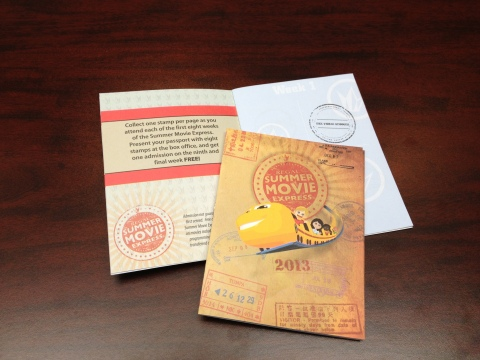 Regal Entertainment Group's passport is a keepsake to be stamped each week when guests 'climb aboard' the Summer Movie Express. Source: Regal Entertainment Group