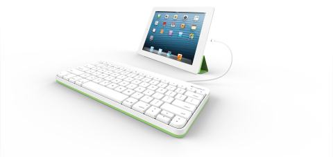 Introducing the Logitech Wired Keyboard for iPad, the first iPad keyboard made specially for the classroom environment. Designed for hassle-free plug-and-play connectivity, the Logitech Wired Keyboard for iPad has an integrated Lightning Connector or 30-pin Connector. (Photo: Business Wire)
