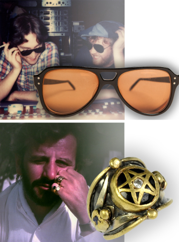 """John Lennon's """"Lost Weekend"""" glasses & Ringo Starr's """"Power Ring"""" will be at the Mecum Celebrity Items Auction (Photo: Business Wire)"""