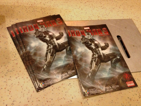 "Regal offers exclusive comic book for free with purchase of Marvel's ""Iron Man 3"" RealD 3D ticket. Source: Regal Entertainment Group"