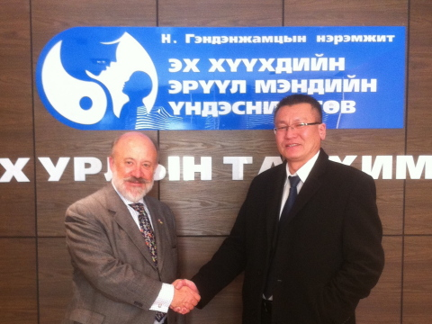 David Warburton, MD and Director of National Center for Maternal and Child Health (NCMCH) in Ulaan B ...