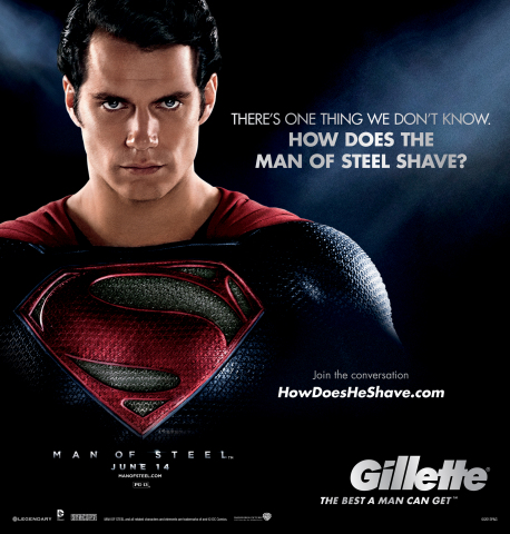 Gillette is inviting Superman fans everywhere to debate one of the most pressing questions surrounding the famed superhero: If the Man of Steel really is impervious to every known substance on earth, just how does Superman shave? Visit HowDoesHeShave.com to learn more. (Photo: Business Wire)