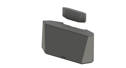 The Origin is an innovative 2-in-1 desktop and portable Bluetooth(R) speaker system. (Photo: Busines ...