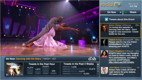 With the new Social app, now available on DISH's Hopper(R) Whole-Home HD DVR, customers can keep up with social conversations surrounding their favorite shows without taking their eyes off their television screen or interrupting their viewing experience. (Photo: Business Wire)