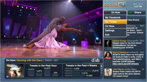 With the new Social app, now available on DISH's Hopper(R) Whole-Home HD DVR, customers can choose to view and post on their Twitter and Facebook feeds so they do not miss out on the conversation. (Photo: Business Wire)
