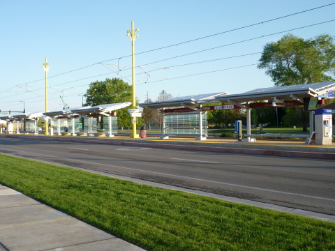Enphase microinverters energize UTA Airport TRAX Station at 1940 W. North Temple (Photo: Business Wi ...