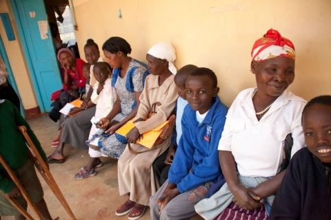 Patients at AIC-CURE International Children's Hospital of Kenya's mobile clinic.  (Photo: Business Wire)