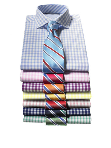 Tommy Hilfiger Shirts, $69.50; Tommy Hilfiger Silk Ties, $59.50, available at Macy's (Photo: Business Wire)