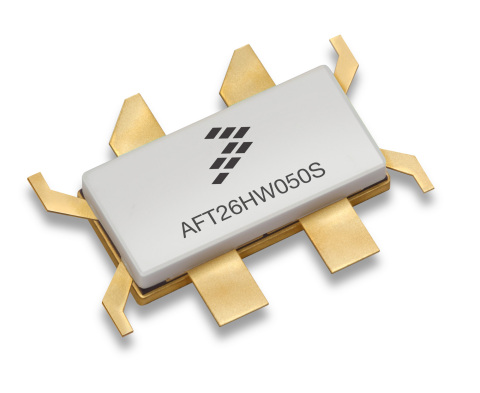 One of Freescale Semiconductor's newest Airfast RF power products. (Graphic: Business Wire)