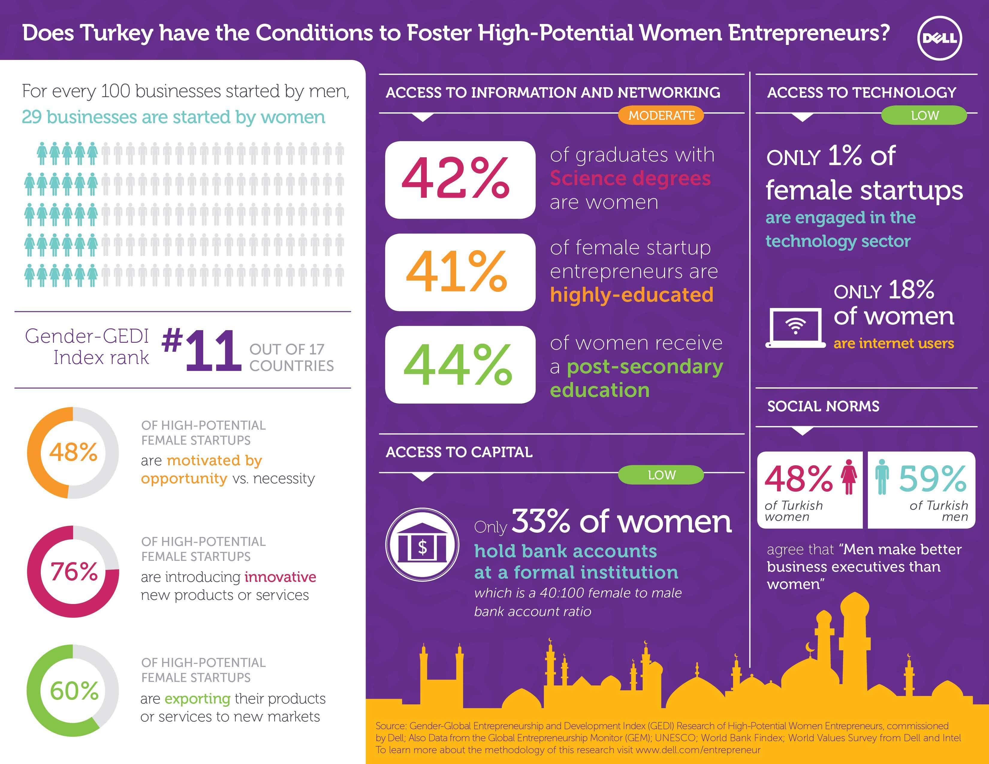 Infographic: Does Turkey have the Conditions to Foster-High Potential Women Entrepreneurs? (Graphic: Business Wire)