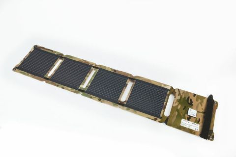The Camouflage Kickr IV Portable Solar Charger (Photo: Business Wire)