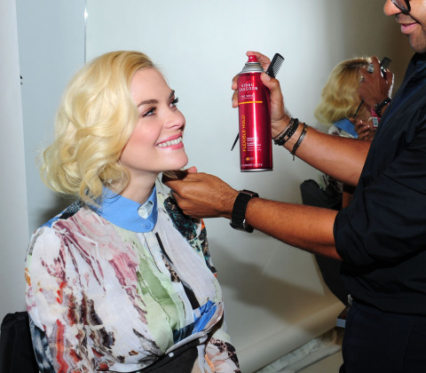 Jaime King debuts her Vidal Sassoon Pro Series faux bob at Sassoon Salon New York Uptown for the 50t ...