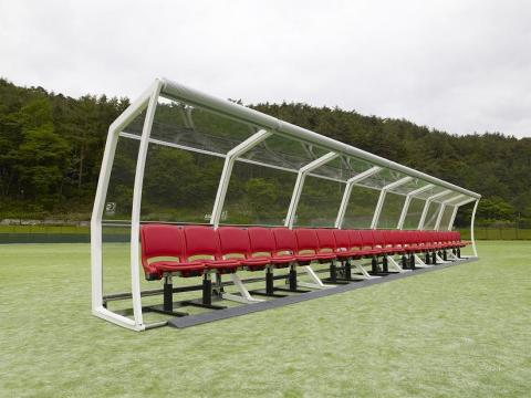 Official Licensed Glass Roof of the 2014 FIFA World Cup(TM) Player Benches (Photo: Business Wire)