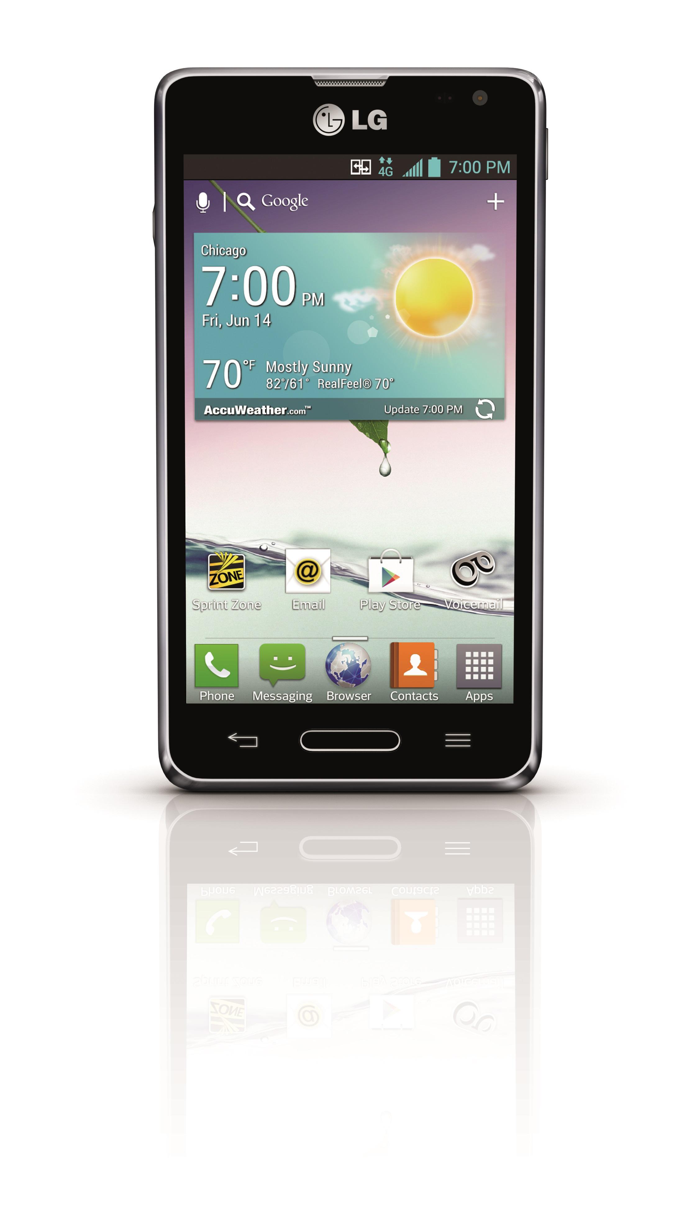 LG Optimus F3 from Sprint (Graphic: Sprint)