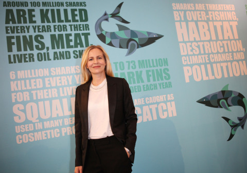 Alannah Weston at the launch of Selfridges Project Ocean 'Save Our Sharks' campaign (Photo: Business Wire)