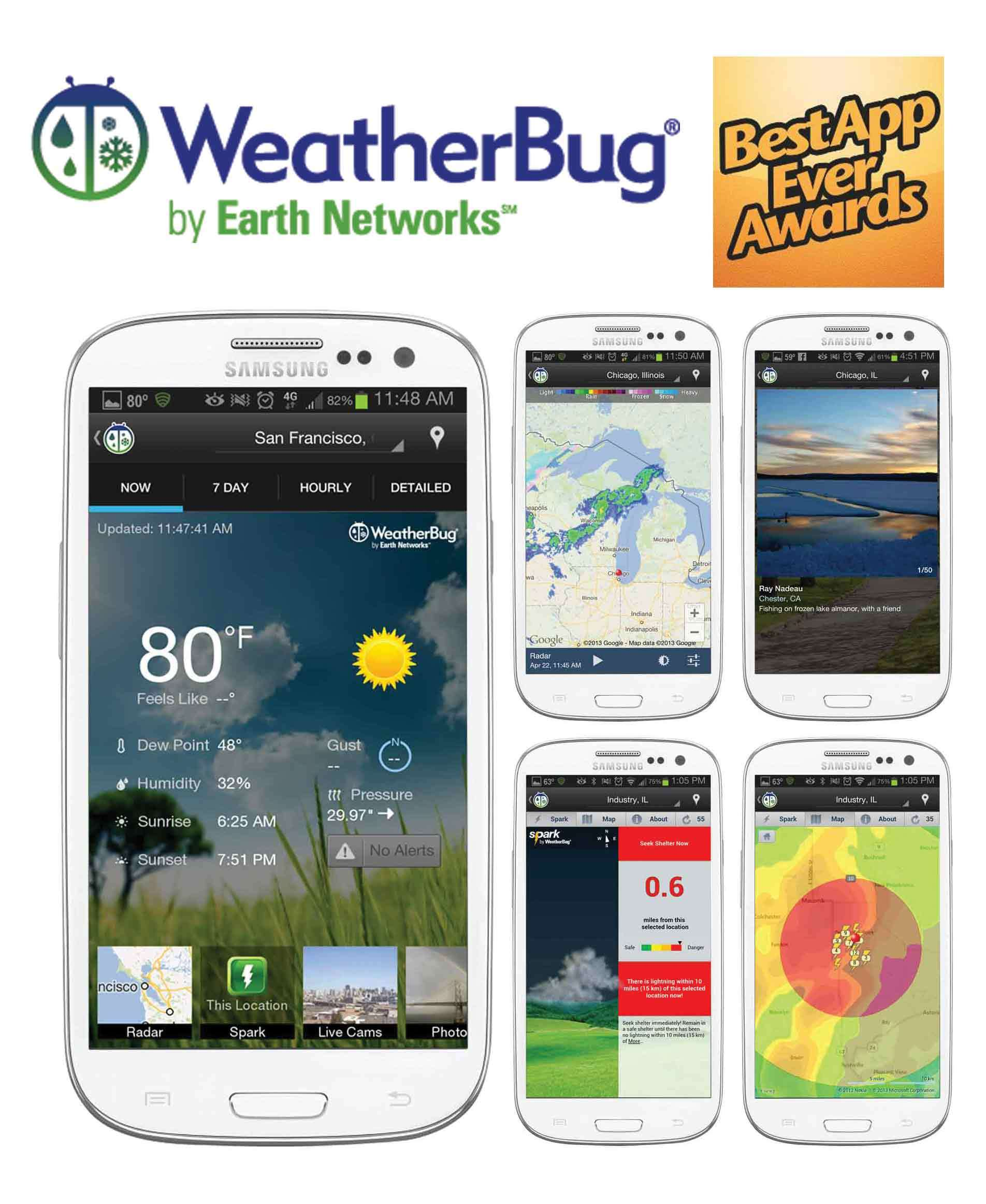 Phone Best Weather App For Android Phones weatherbug for android named best weather app ever by popular vote business wire