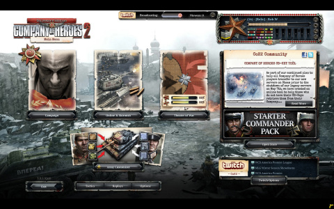 Company of Heroes 2 will be using Twitch's SDK to offer exciting new features like post-match highlight videos, direct game capture and much more. (Photo: Business Wire)